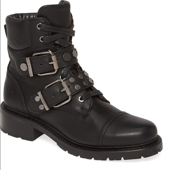 Frye Samantha Studded Hiker Boots